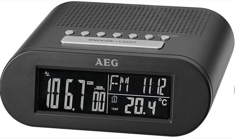 Радиочасы AEG MRC 4145 F black