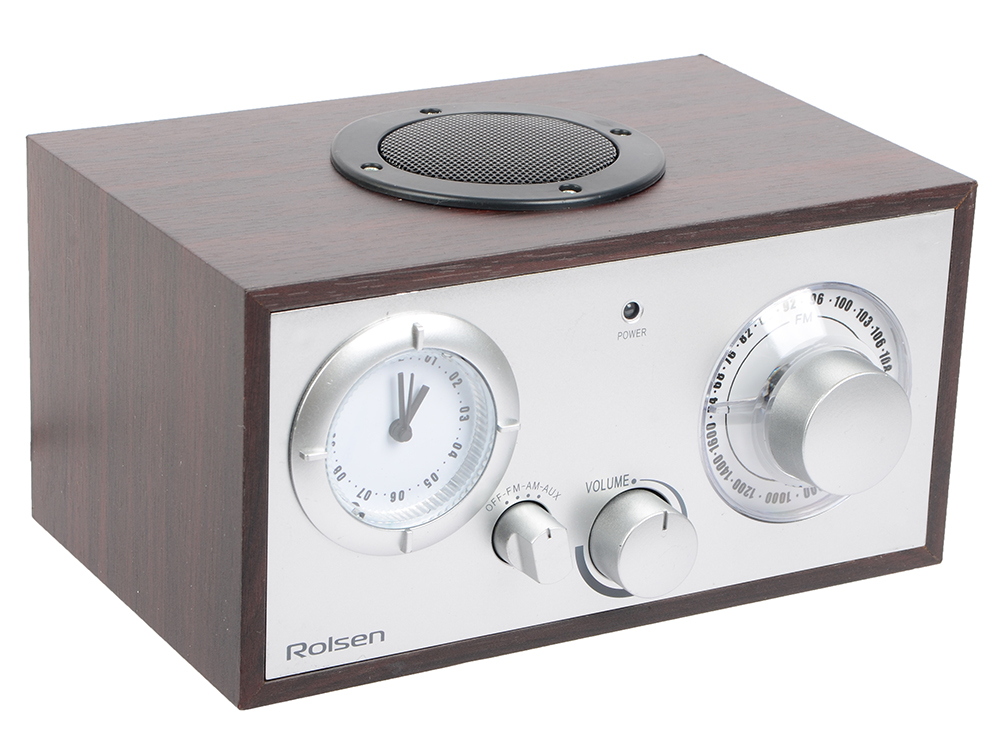 Часы с радиоприемником Rolsen RFM-200 венге радиобудильник rolsen rfm 200