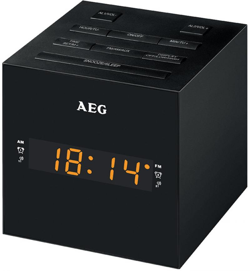 Часы с радиоприёмником AEG MRC 4150 чёрный