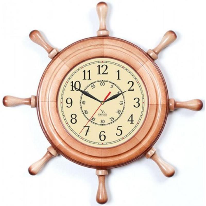 Часы настенные Вега Д 7 НД 2 бежевый