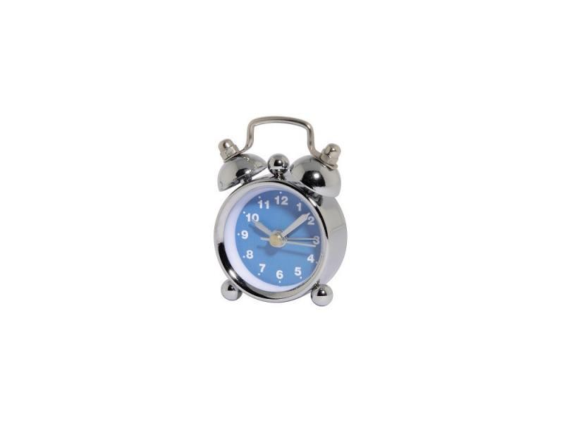 Часы Hama Nostalgia mini H-113925 кварцевый аналоговый серебристый/синий