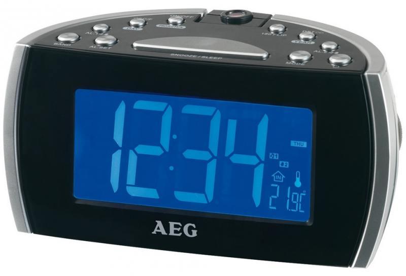 Радиочасы AEG MRC 4119 P black
