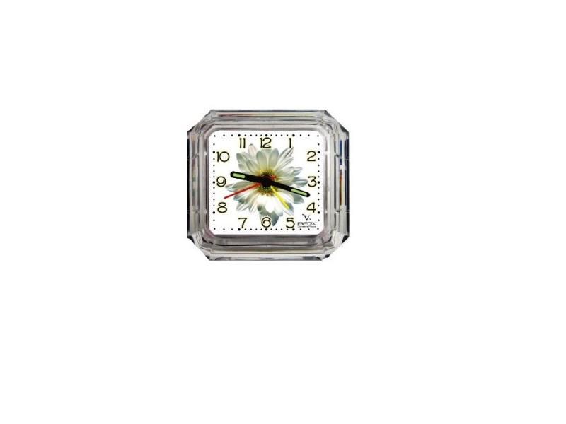 Будильник ВЕГА Б 1-007 Белая ромашка