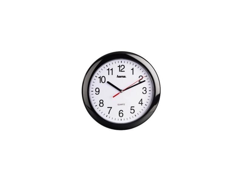 Часы Hama H-113920 PP-250 настенные аналоговые пластик черный