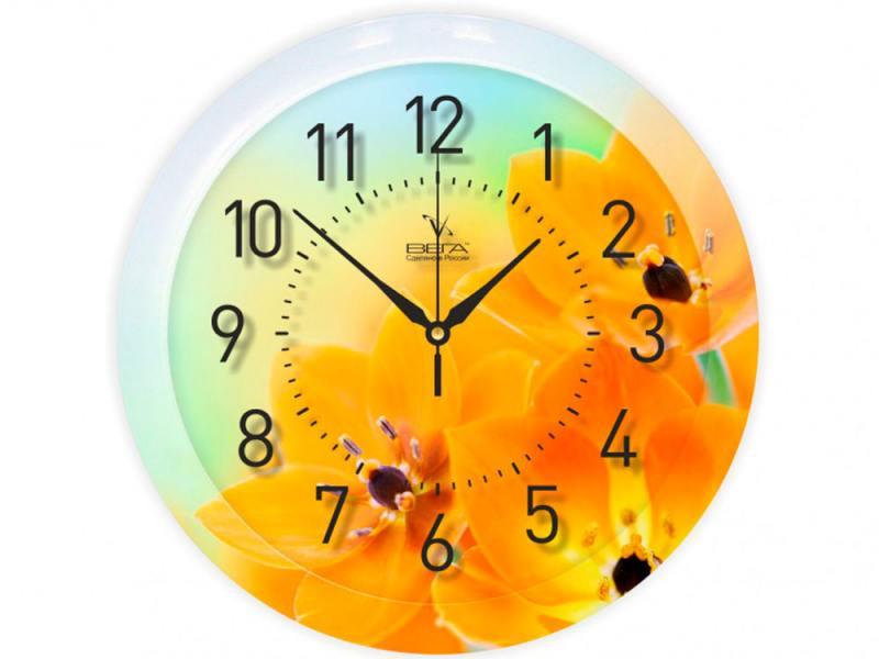 Часы ВЕГА П 1-247/7-247 Желтые тюльпаны
