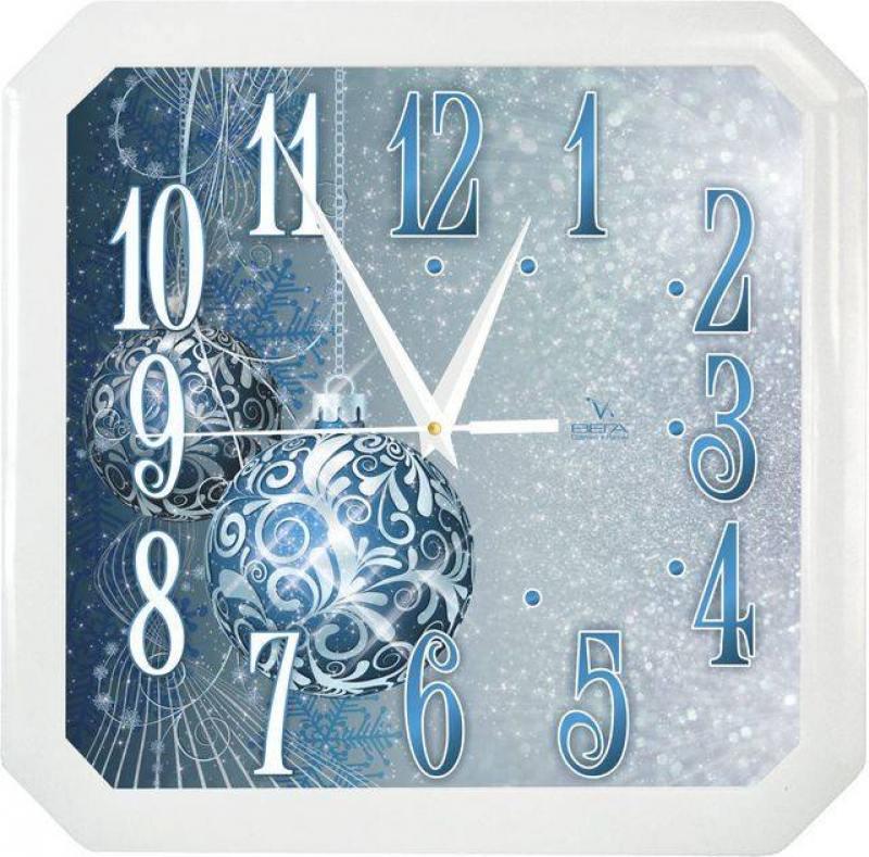 Часы настенные Вега П4-7/7-85 Синие шары белый синий часы вега п4 14 7 86 новогодние подарки разноцветный
