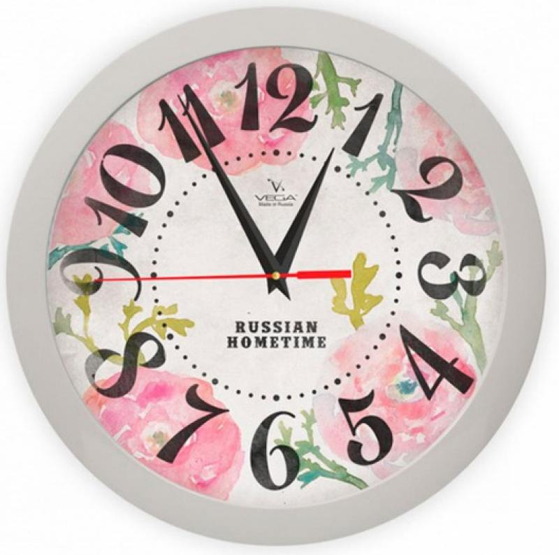 Часы настенные Вега Розовые маки П 1-5/7-269