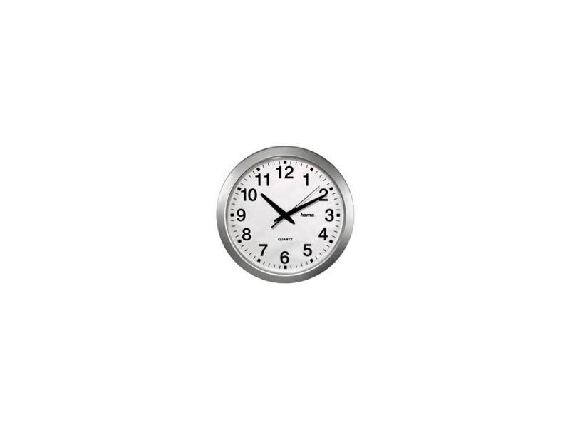 Часы Hama H-92645 CWA100 настенные аналговые пластик белый/серебристый