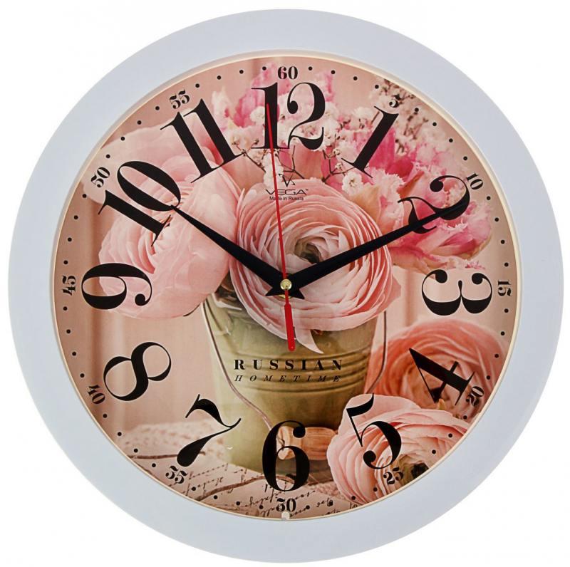 Часы Вега П1-7/7-274 Нежные розы