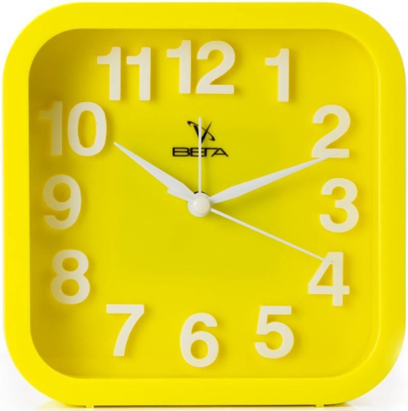 Будильник Вега Удачное утро жёлтый 6091