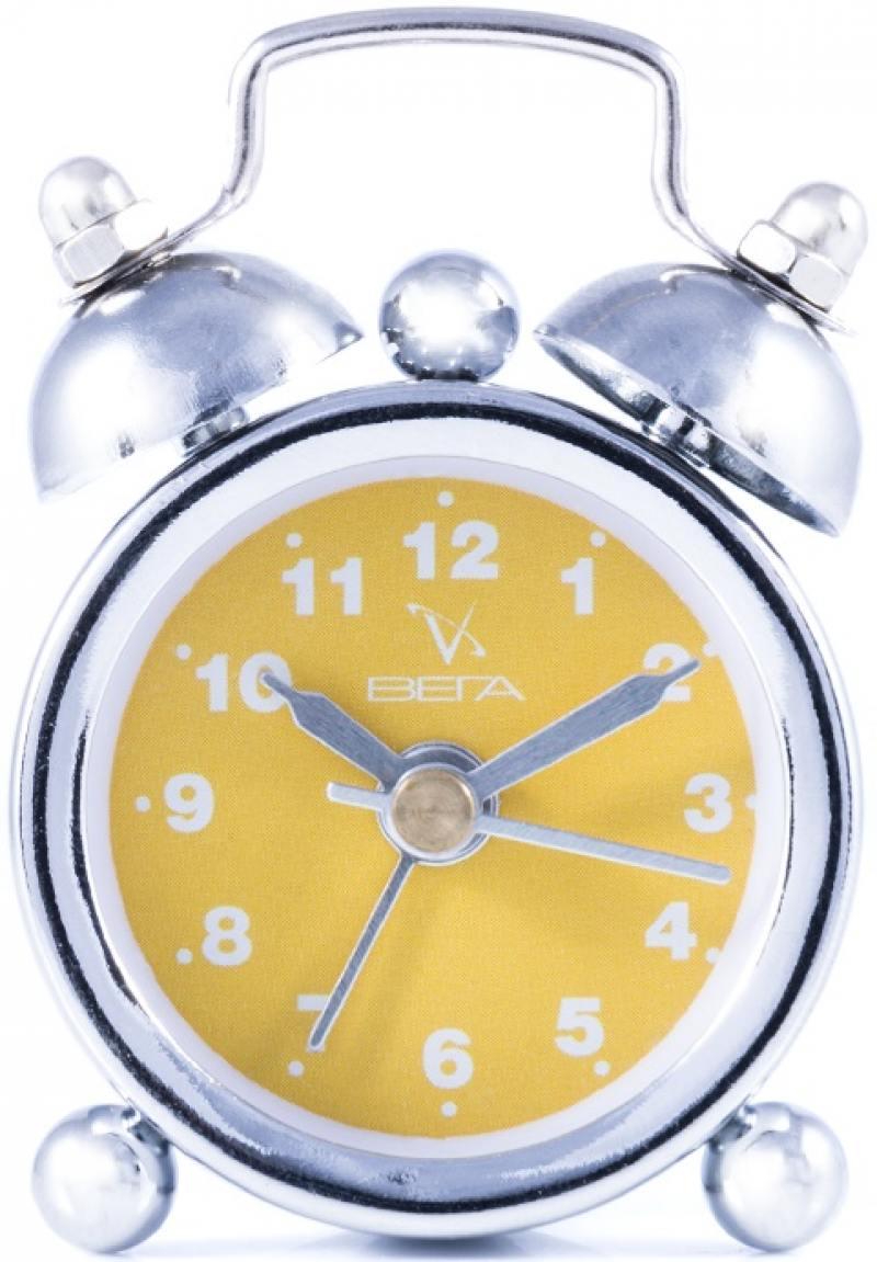 Мини-будильник Вега 7801 желтый 6.1x1.8x4.2 см