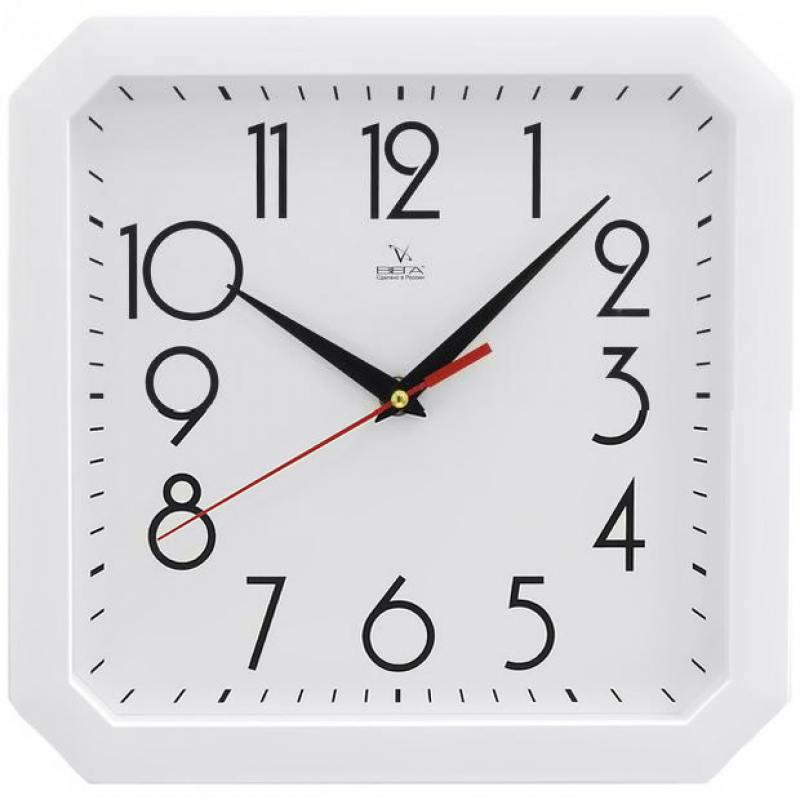 Часы настенные Вега Классика П4-7-7-81 белый