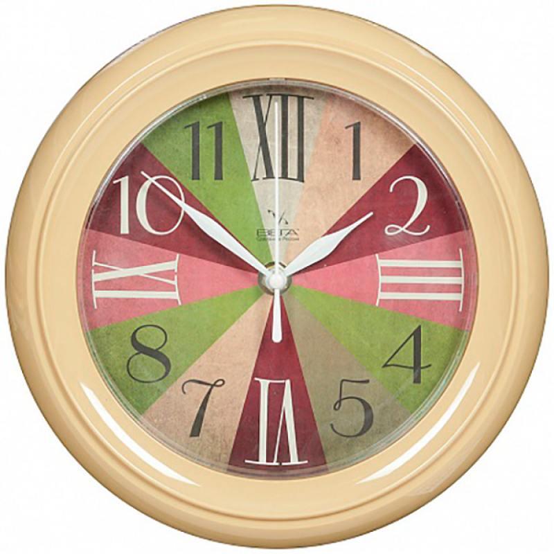 Часы Вега П 6-14-33 бежевый