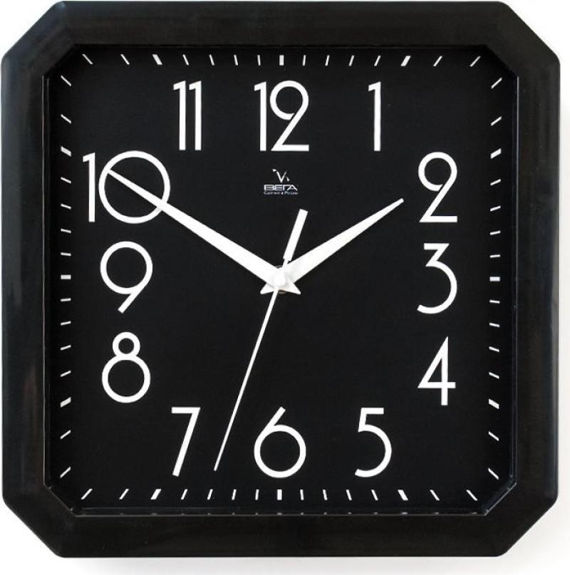 Часы Вега П4-6/6-80 Классика черная в черном