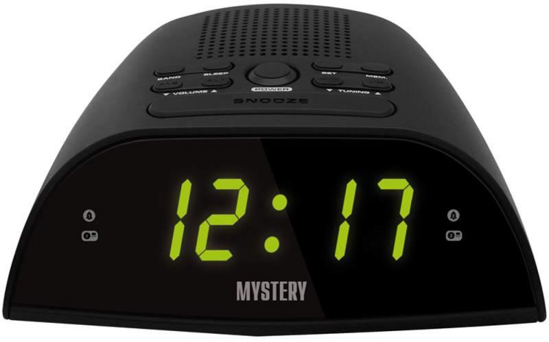 Часы с радиоприёмником MYSTERY MCR-48 чёрный зеленая подсветка