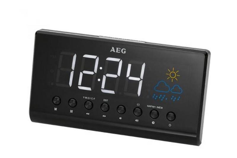 Радиобудильник AEG MRC 4141 P schwarz MRC 4141 P schwarz радиобудильник rolsen rfm 300 венге 1 rldb rfm 300