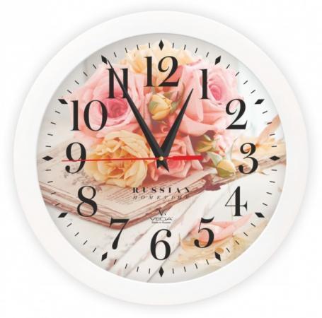 Часы настенные Вега Вдохновение белый П1-7/7-251 часы настенные вега п1 7 7 5 белый рисунок