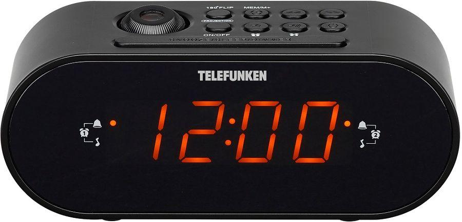 Часы с радиоприемником TELEFUNKEN TF-1506(черный с янтарным)