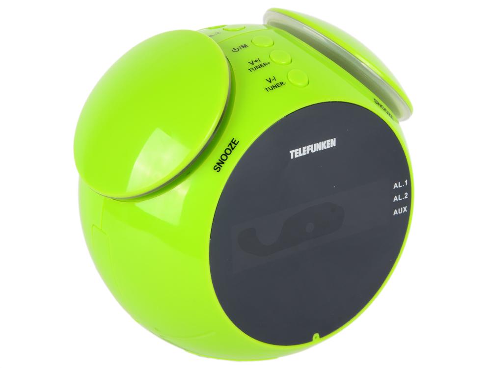 цена на Часы с радиоприемником TELEFUNKEN TF-1570(зеленый с янтарным)
