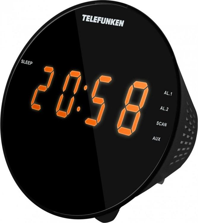Часы с радиоприемником Telefunken TF-1572(черный с янтарным)