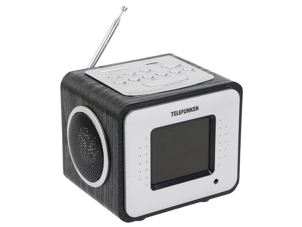 Часы с радиоприемником TF-1575U(черное дерево с фиолетовым)