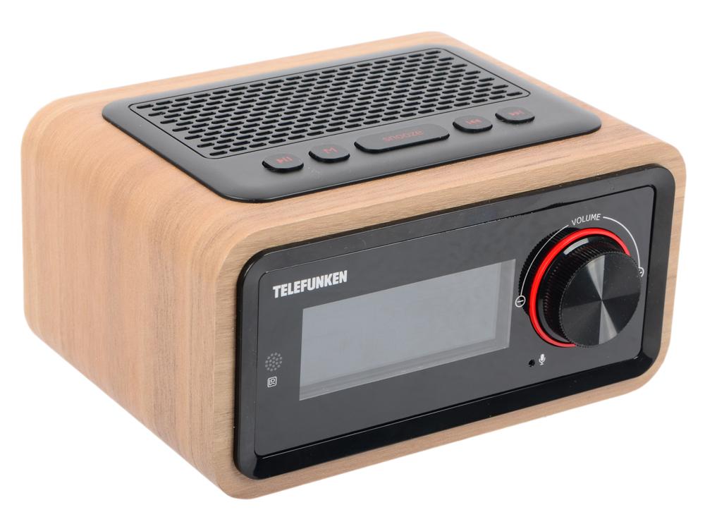 Часы с радиоприемником TF-1582UB(темное дерево) радиоприемник telefunken tf 1638u дерево темное