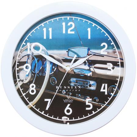 Часы Вега П1-7/7-296 Белый руль