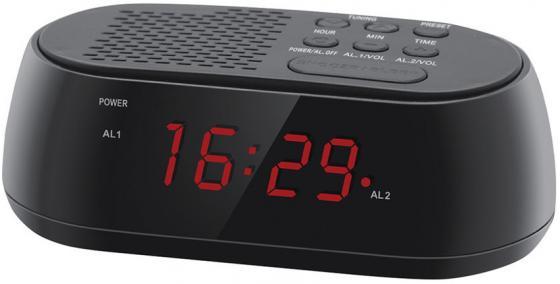 Радиобудильник Hyundai H-RCL210 чёрный