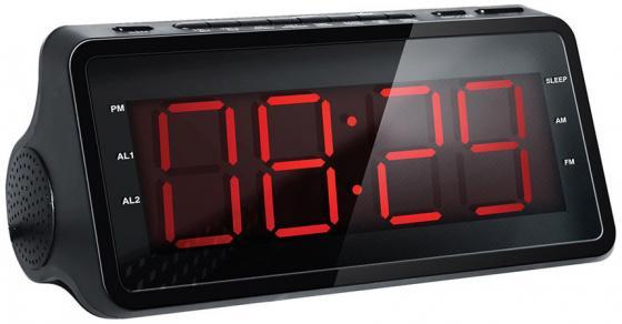 Радиобудильник Hyundai H-RCL140 чёрный радиобудильник rolsen rfm 200