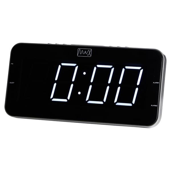 Часы с радиоприемником MAX CR-2904w Белый LED дисплей 1.8