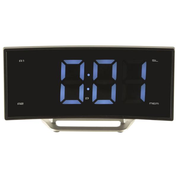 Часы с радиоприемником MAX CR-2906w Синий LED дисплей 1.8