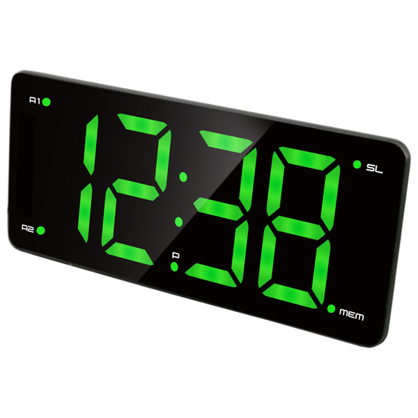 Часы с радиоприемником MAX CR-2910 Зеленый дисплей 3, 2 Будильника, AM/FM радио часы max cr 2914