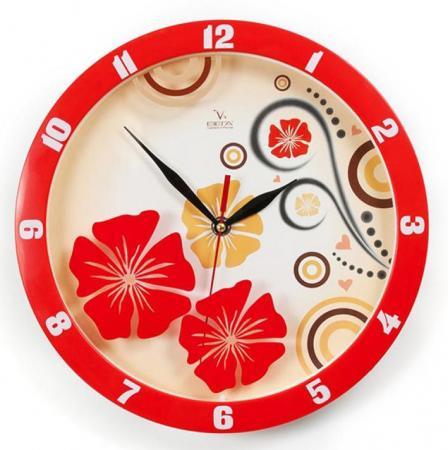Часы настенные Вега П1-1727/7-302 Красные узоры рисунок