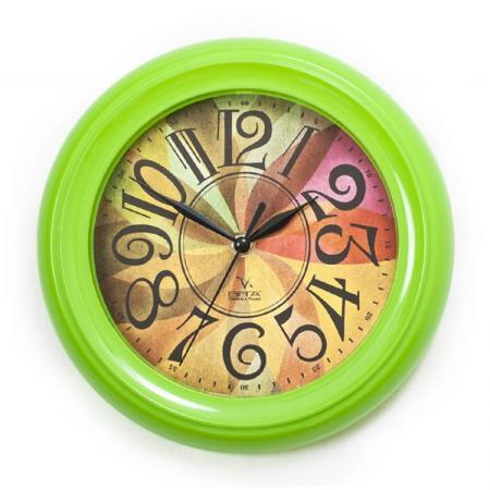 Часы настенные Вега П 6-3 мат-35 зелёный зелёный цвет 3 6 months
