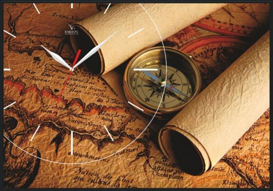 Часы-картина Вега КП-2 Карта пенокартон 350х500