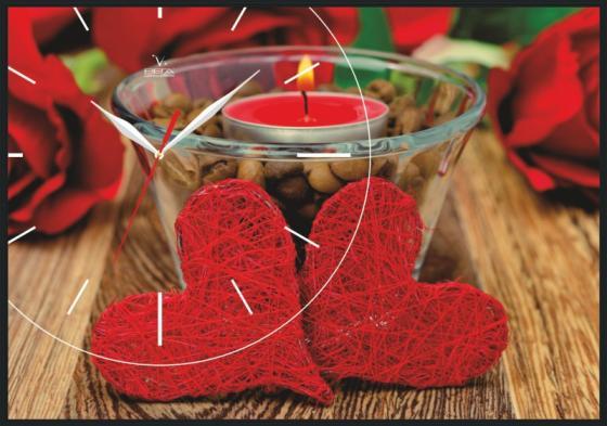 Часы-картина Вега КП-5 Любовь пенокартон 350х500