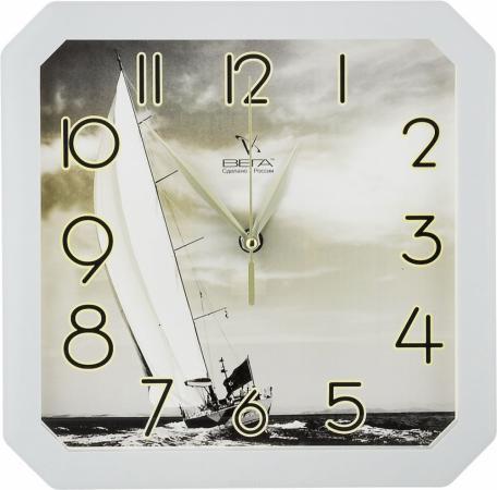 Часы настенные Вега «Парусник» белый П 4-5/7-7 часы настенные вега д 1 мд 7 8 парусник