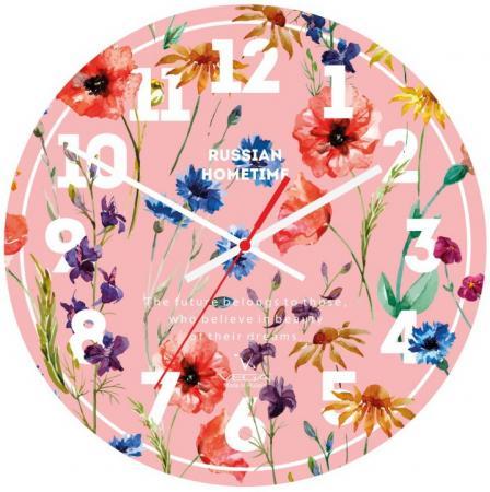 Часы настольные Вега А 1-1 розовый рисунок