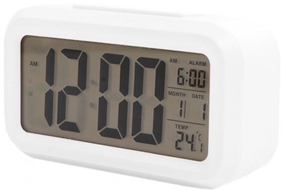 Часы настольные электронные Сигнал EC-137W белые