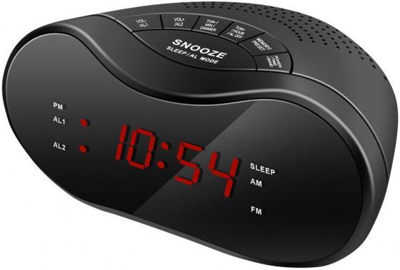 Радиобудильник Hyundai H-RCL160 чёрный радиобудильник uniel utp 80
