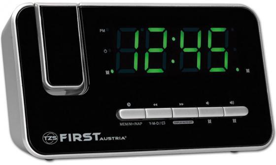 Часы с радиоприёмником First FA-2421-7 серебристый first fa 2421 2 black радиочасы c проектором