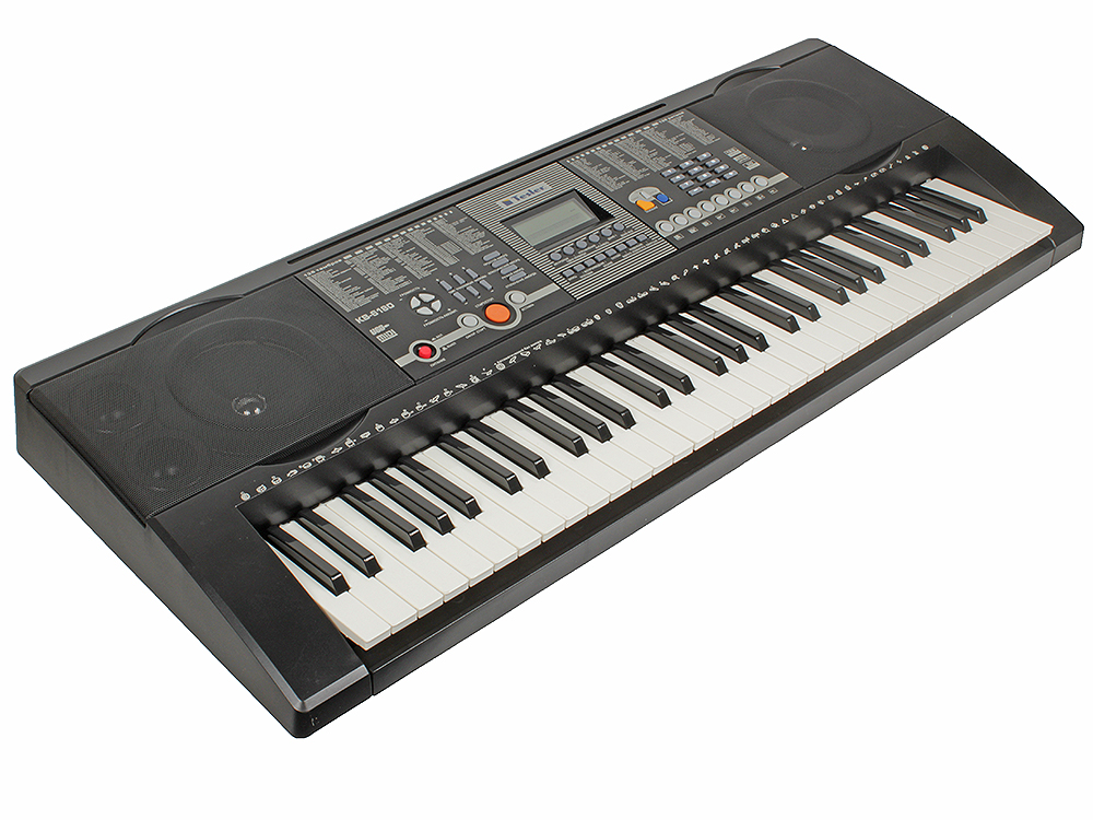 Синтезатор TESLER KB-6180 61 клавиша, большой LCD дисплей, 128 тембров/128 ритмов, 8 звуковых эффектов, 30 демопесен,автоаккомпанемент, запись цена 2017