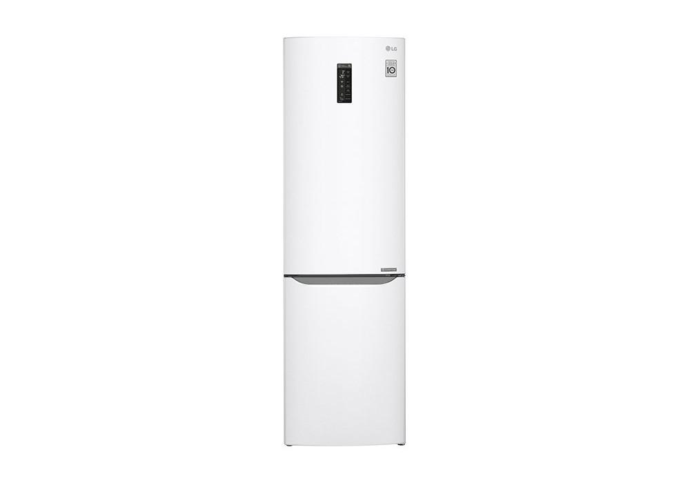 лучшая цена Холодильник LG GA-B499SVKZ белый