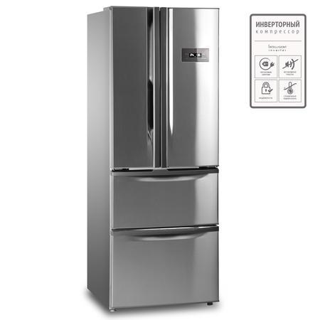 Холодильник Tesler RFD-360I INOX морозильник tesler rf 90 белый