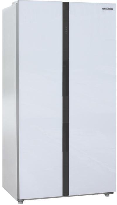 SBS-573DNFGW холодильник shivaki sbs 615dnfw