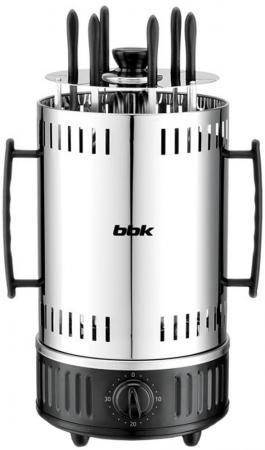Электрошашлычница BBK BBQ603T серебристый черный от OLDI