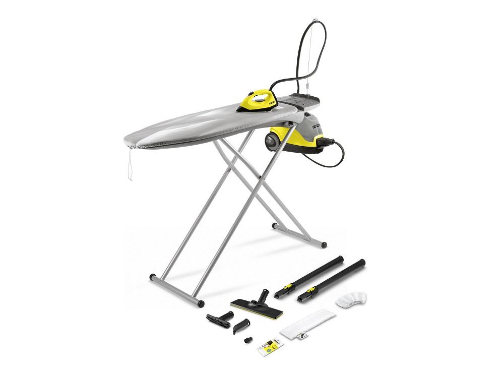 цена на Гладильная система Karcher SI 4 EasyFix Iron Kit EU 2000Вт, давление пара 3.5 бар, Easy Fix, набор насадо и удлинителей