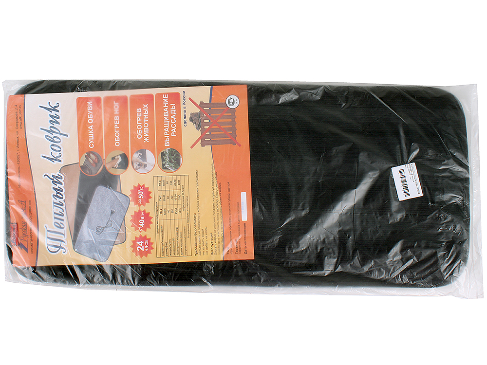 Сушилка для обуви ТЕПЛЫЙ КОВРИК ТК-2 черный от OLDI