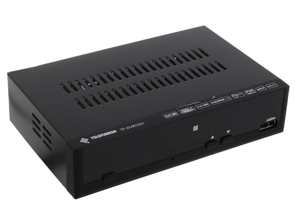 Цифровой телевизионный DVB-T2 ресивер TELEFUNKEN TF-DVBT201 (черный)