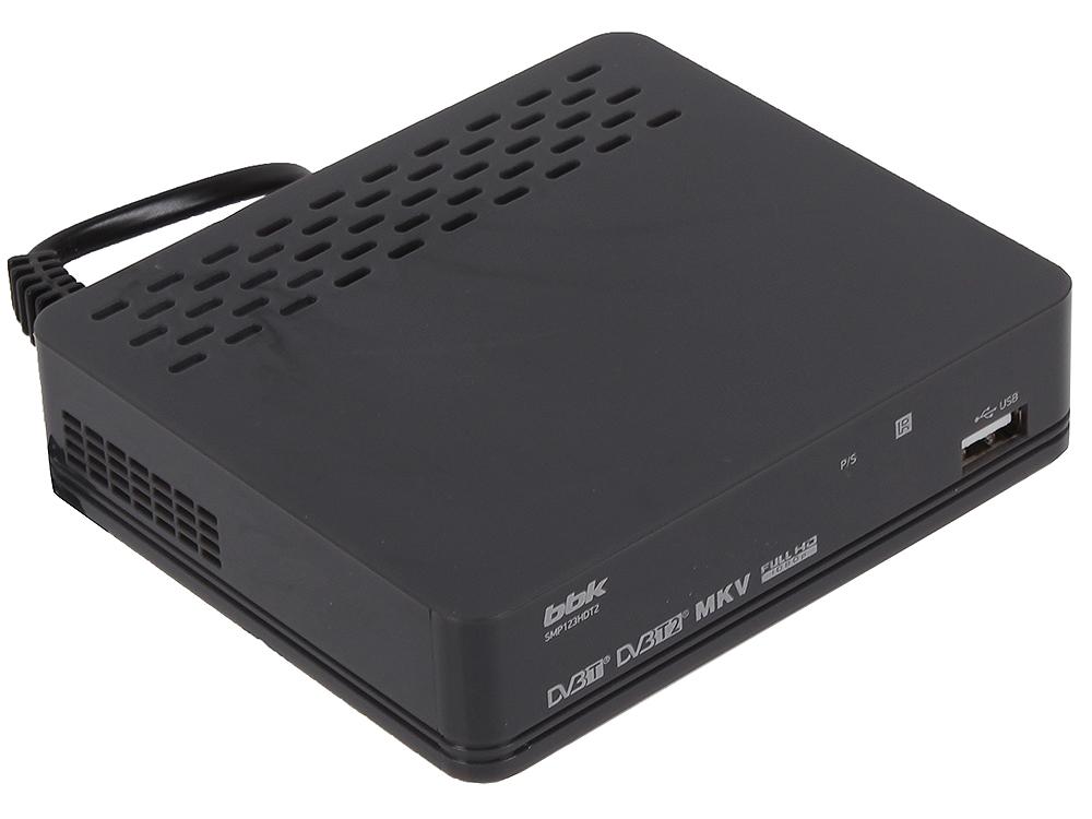 Цифровой телевизионный DVB-T2 ресивер BBK SMP123HDT2 темно-серый